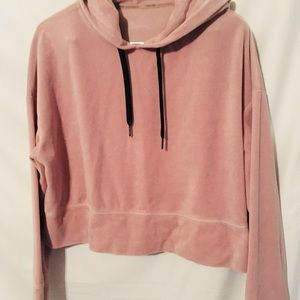 Calvin Klein Velour Jogger with hoodie M Pink
